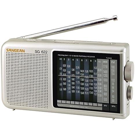 Amazon Sangean SG 622 FM MW SW 1 10 Compact 12 Band World