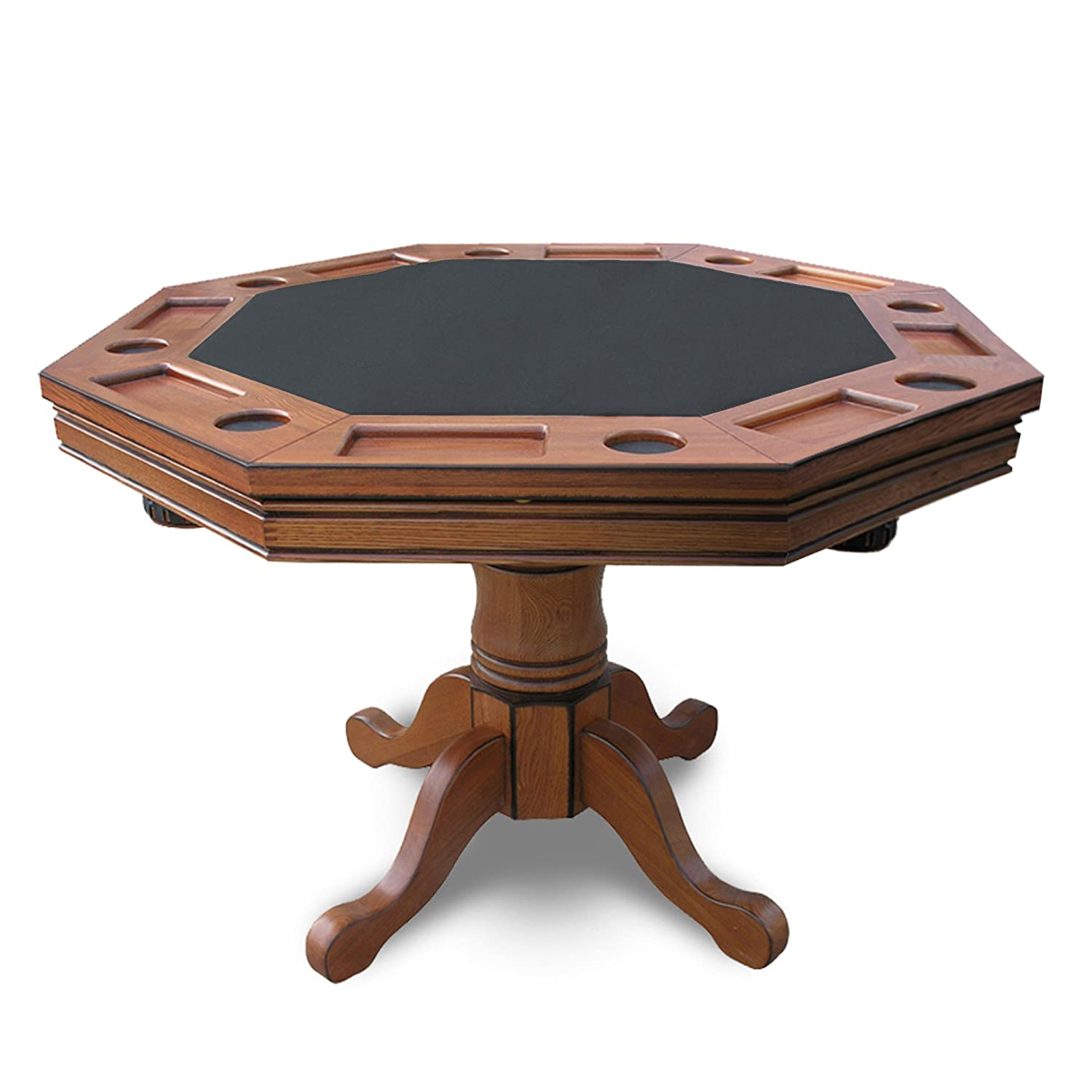 Poker table chairs - Amazon Com Hathaway Kingston 3 In 1 Poker Table With 4 Chairs Dark Oak Finish Rec Room Games And Equipment Sports Outdoors