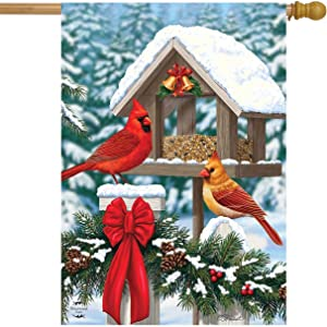 Briarwood Lane Cardinals Christmas Feast House Flag Holiday 28