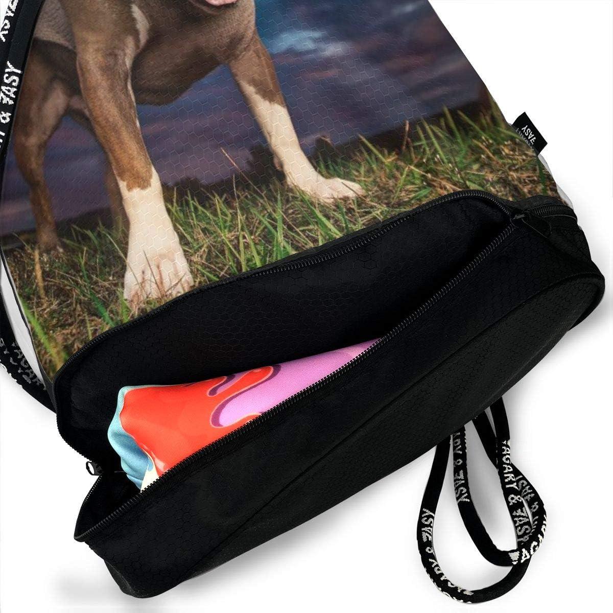 GymSack Drawstring Bag Sackpack Pitbull Wear Sweater Sport Cinch Pack Simple Bundle Pocke Backpack For Men Women