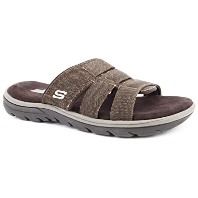 Skechers Mens Supreme/Glade Brown Flip Flops Size 12