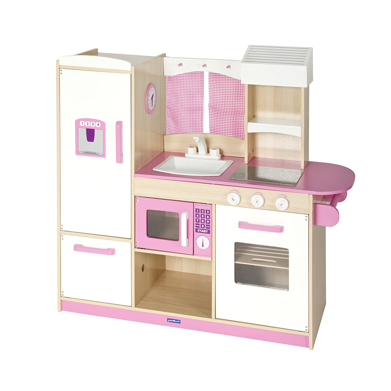 Amazon.com : Guidecraft Play Along Pink Kitchen G97276 : Toy Kitchen Sets :  Baby