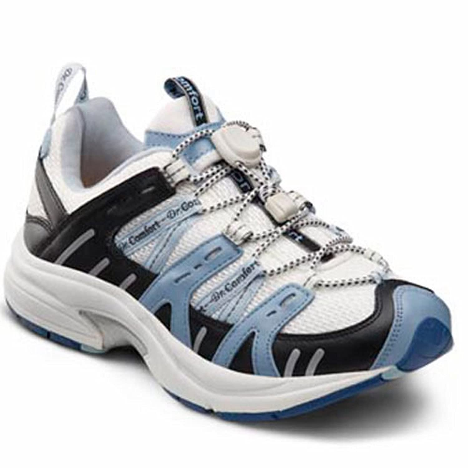 Dr. Comfort Women's Refresh X Blue Diabetic Athletic Shoes B00IO6GO2U 11.0 Medium (M/D) White/Blue Lace US Woman|White and Blue