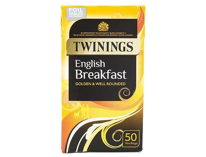 Twinings Inglés desayuno bolsas de sobres de té - 1 x 50 de