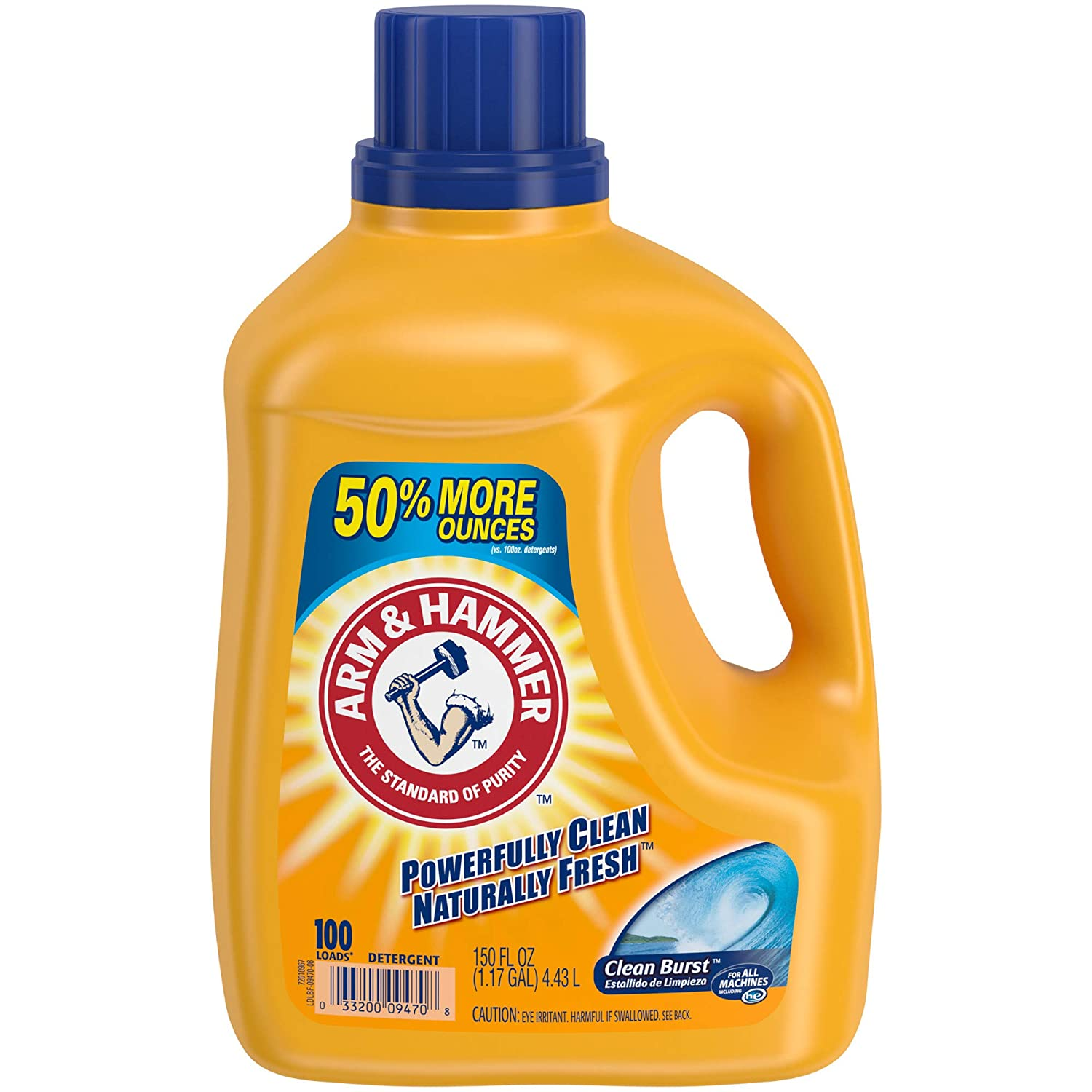 ARM & HAMMER Clean Burst HE Liquid Laundry Detergent, 100 loads