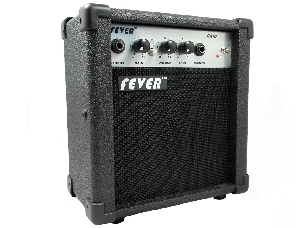 Fever GA-10 10 Watts Guitar Combo Amplifier with Overdrive Distortion Switch by Fever