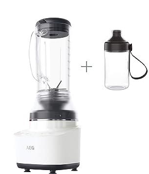 AEG CB7-1-4CW Batidora de vaso Compact 7, 900 W, 2 velocidades, 2 recetas, 0.6 L, Blanco Cerámico: Amazon.es: Hogar