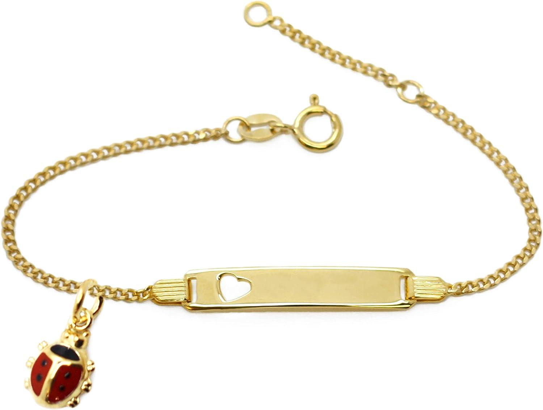 MyOwnName Bracelet de bapt/ême en Argent 925 pour b/éb/é gar/çon