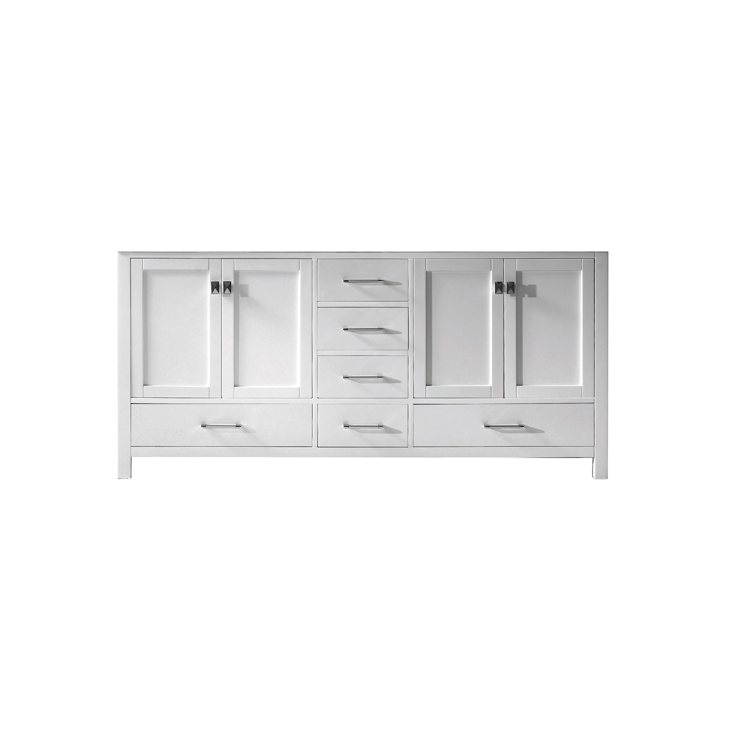 Virtu USA GD-50072-CAB-WH Caroline Avenue 72 inch Double Bathroom Vanity Cabinet In White