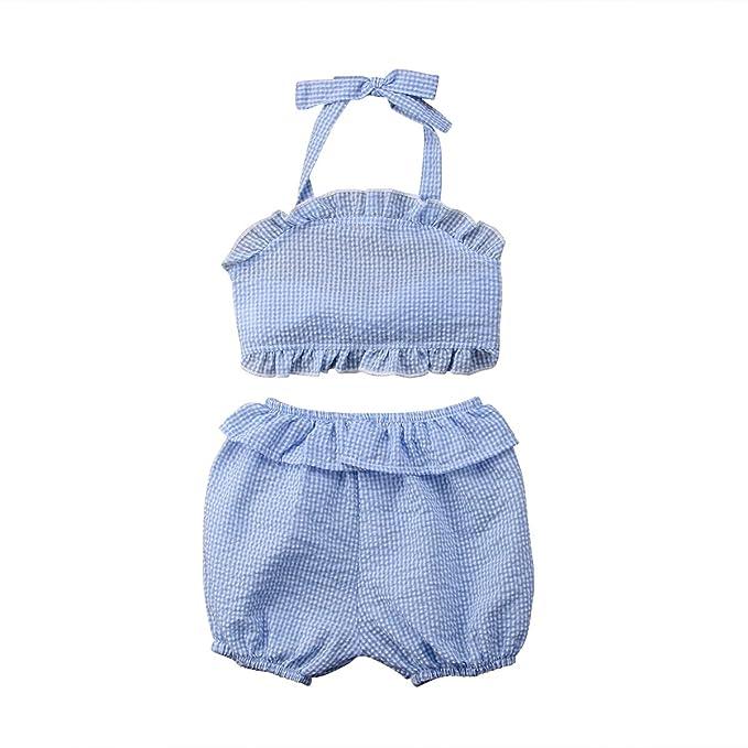 Amazon.com: Una apertura bebé niña pantalones cortos tartán ...