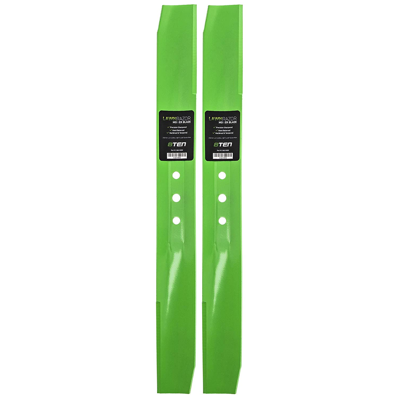 8TEN LawnRAZOR Medium-Lift Blade 22 Inch for Toro Recyclers Steel Decks 108-9764-03 104-8697-03 131-4547-03 2 Pack
