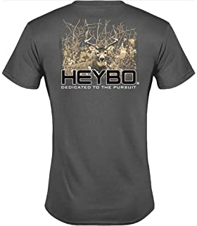 093e6132 Heybo Deer in Brush S/S Charcoal Gray T-Shirt (Small)