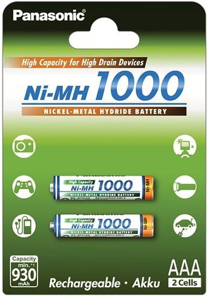 Panasonic Microakku Hhr 55aaab Aaa 1000mah 2er Pack 2x Elektronik