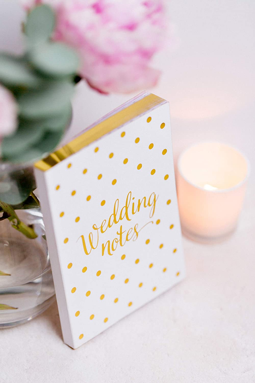Verlobungsgeschenk Hochzeitsplaner und Notizb/ücher Wei/ß und Gold englische Hochzeitsplanung Notizbuch Tagebuch und Organisationstagebuch