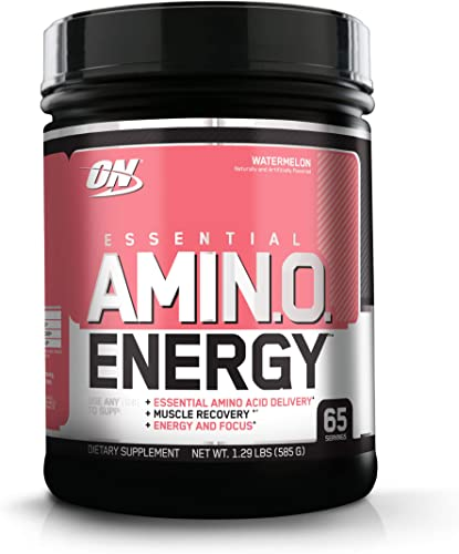 Optimum Nutrition Amino Energy – Pre Workout with Green Tea, BCAA, Amino Acids, Keto Friendly, Green Coffee Extract, Energy Powder – Watermelon, 65 Servings