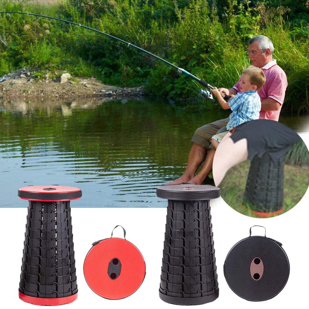 Neborn Taburete telesc/ópico port/átil Plegable retr/áctil Jard/ín Camping Taburete Asiento para Pesca Senderismo Viajar Actividades al Aire Libre