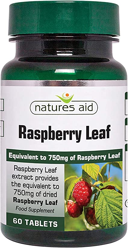 Natures Aid Raspberry Leaf Tablets 375mg Pack of 60: Amazon.es ...