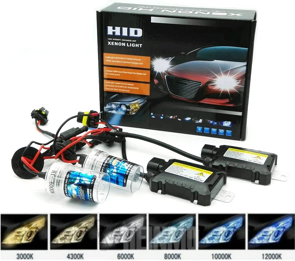Heinmo 1 Pair 55W HID Car Headlight Xenon HID Conversion Kit Auto Replacement Xenon H3 H7 H9 H11 H8 H1 9005 9006 880 881 HB3 HB4 4300K, H7