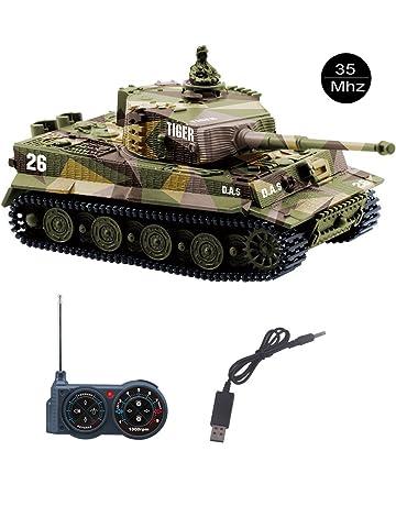 YouCute Mini RC Tank con Cable Cargador USB Control Remoto Tanque Panzer 1:72 German