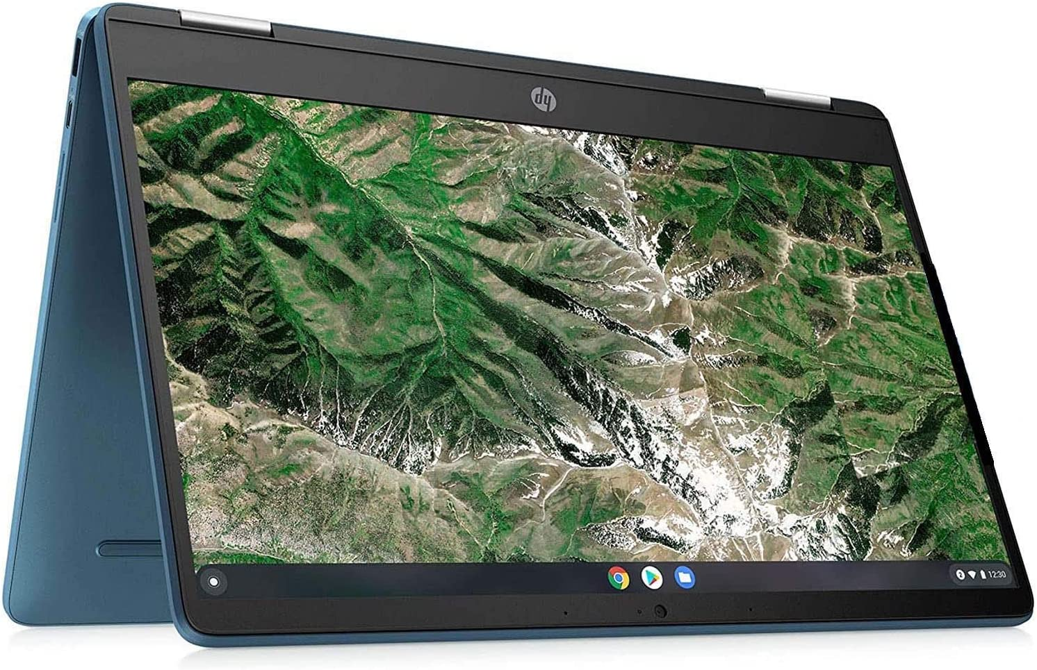 HP Chromebook x360 Laptop Computer in Teal Color Intel Celeron N4020 up to 2.8GHz 4GB DDR4 RAM 64GB eMMC 14inch HD 2-in-1 Touchscreen (Renewed)
