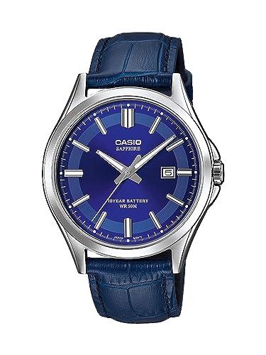 cd70c08a099e CASIO Reloj Analógico para Hombre de Cuarzo con Correa en Cuero MTS-100L-2AVEF   Amazon.es  Relojes