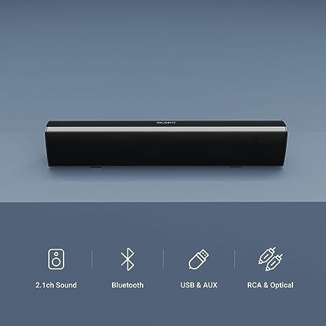 Majority Bowfell 2 1 Bluetooth Soundbar Für Tv Geräte Pc Lautsprecher Fernbedienung Im Lieferumfang Enthalten Kompakt Mit Cinch Kabel Und Optischem Eingang Audio Hifi