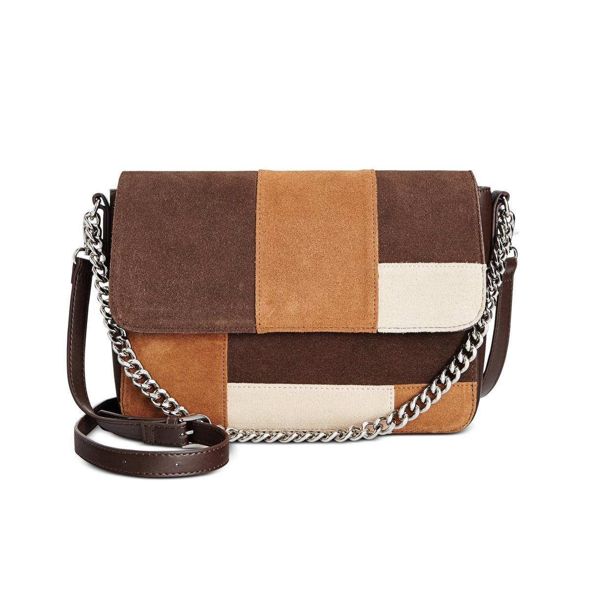 a467953dda Giani Bernini Womens Leather Suede Crossbody Handbag Brown Large ...