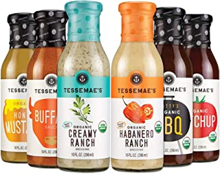 product image for Tessemae's 'Summer Sauces' Variety Pack, Whole30 Certified, Keto Friendly, 10 fl oz. bottles (6-Pack)
