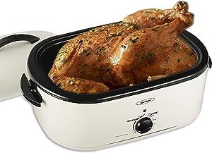 20 Quart Roaster Oven, Electric Turkey Roaster Oven, White