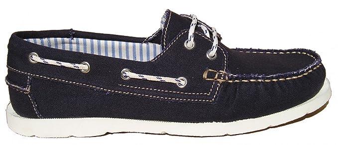 BluePort Herren Canvas Bootsschuh Vermont, Größe:40 EU, Farbe:royalblau