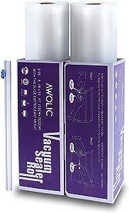 AWOLIC Vacuum Sealer Rolls with Slide Cutter,2 Rolls(8