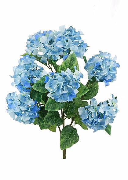 Amazon hydrangea silk flowers bush in two tone blue25 tall hydrangea silk flowers bush in two tone blue25quot mightylinksfo Images