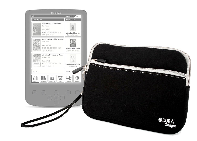 Duragadget-Funda negra-Mango extraíble para ebook TrekStor Pyrus 2 ...
