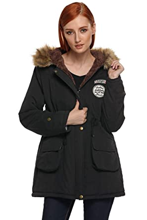 b190b59de54e Image Unavailable. Image not available for. Color  Jakipo Women Winter  Thicken Warm Hooded Packable Down Jacket Coat Casual Jackets