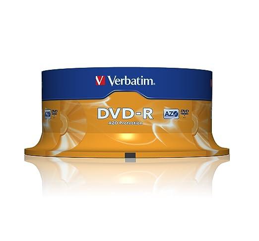 289 opinioni per Verbatim DVD-R 16x Speed 4,7GB , confezione da 25
