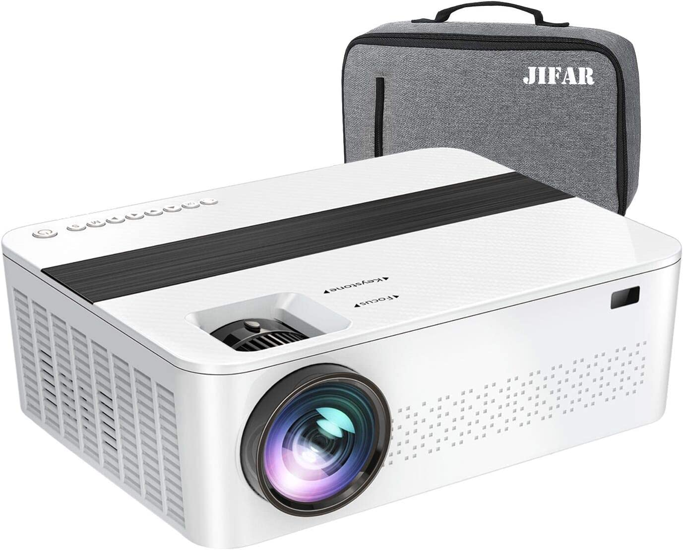 "1080P Projector,7000Lux HD Projector with Max 400"" diagonal, Movies Projector Support 4K Dolby with 100,000 hrs life,Busines&Home& Outdoor Projector Compatible with TV Stick,HDMI,VGA,USB,Smartphone,PC"