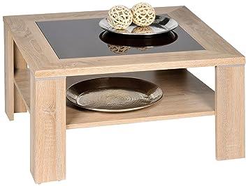 AlfaTische Santos M Coffee Table Sonoma Oak Wood With Brown - Santos coffee table