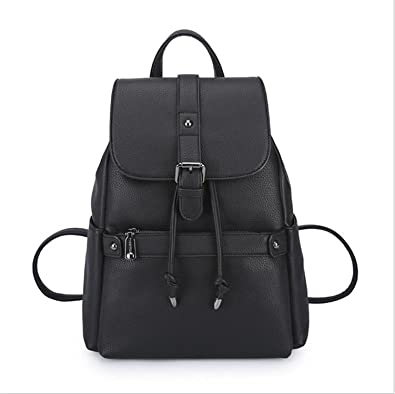 Amazon.com: Chopstick Tigernu Women Leather Backpack School Bags Travel Soft Mochilas Mujer Black: Shoes