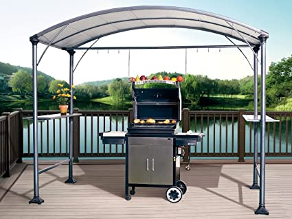 Abba Patio 9u0027 x 5u0027 Outdoor Backyard BBQ Grill Gazebo with Steel Canopy & Amazon.com : Abba Patio 9u0027 x 5u0027 Outdoor Backyard BBQ Grill Gazebo ...
