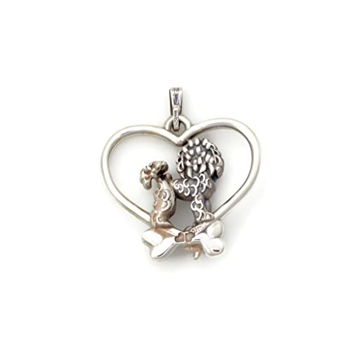 Donna Pizarro Designs Sterling Silver Bichon Frise Necklace gGcHZwH