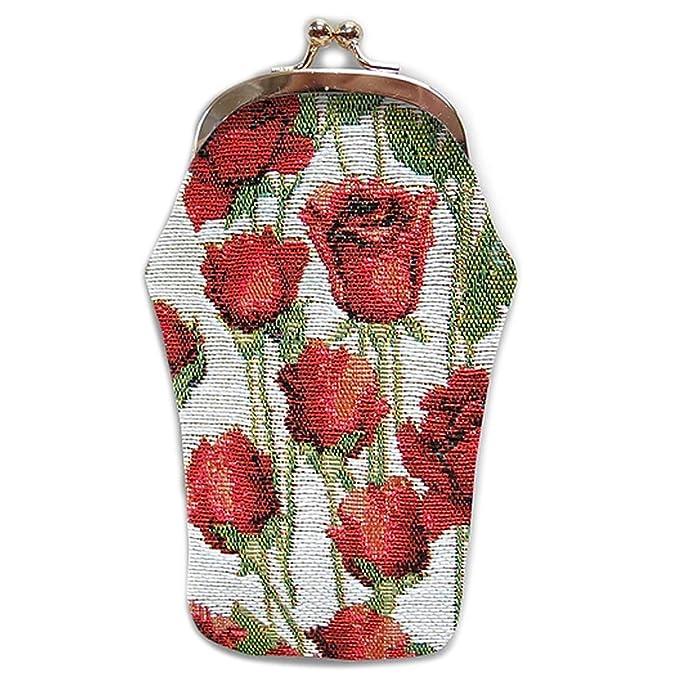 Royal Tapisserie [Q6381 - Estuche de gafas hecho a mano rojo ...