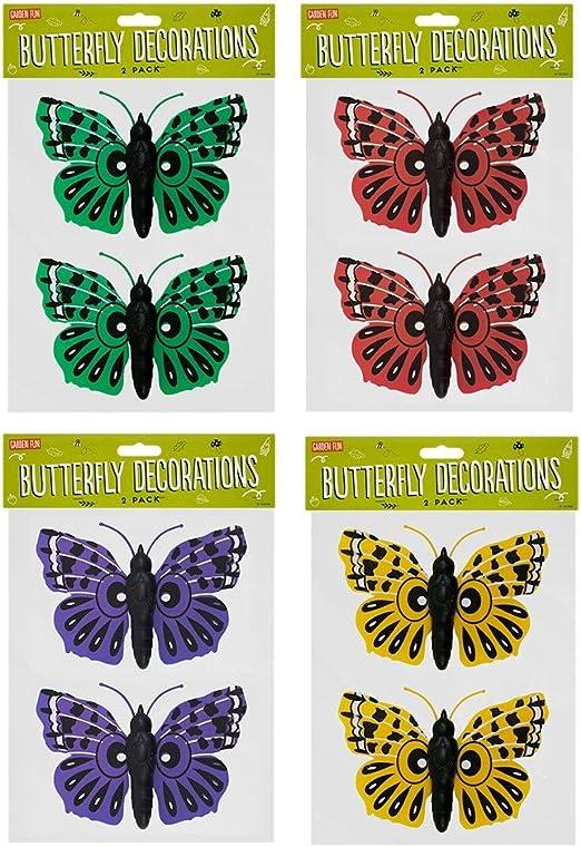 Stalwart k-42324 jardín decoraciones de pared, mariposa (Pack de 2): Amazon.es: Industria, empresas y ciencia
