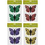 ITP Lot de 2 décorations murales en forme de papillon
