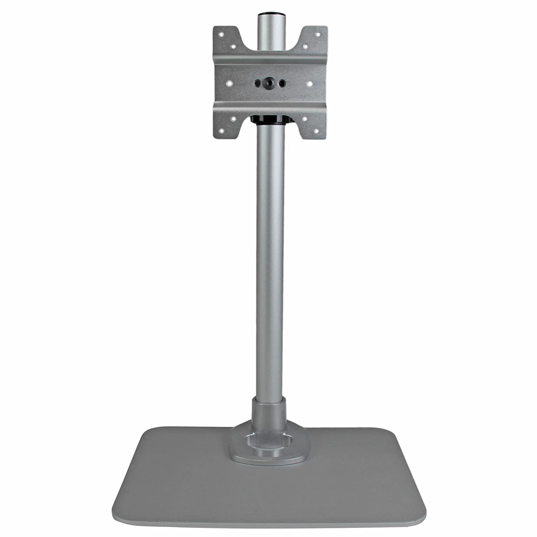 StarTech.com Single Monitor Stand - Silver - VESA Mount - Monitor Arm Desk Stand - Computer Monitor Stand (ARMPIVSTND)