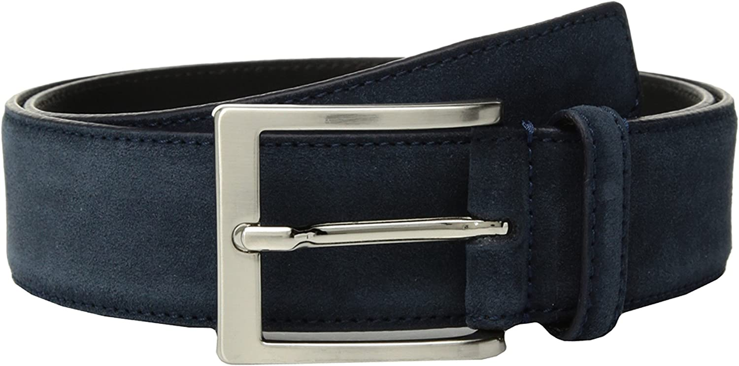 To Boot New York Mens Belt Navy Blue Suede 30