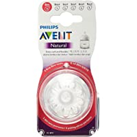 Philips Avent SCF657/23 Natural Nipple, First flow, 0m, 2 Piece