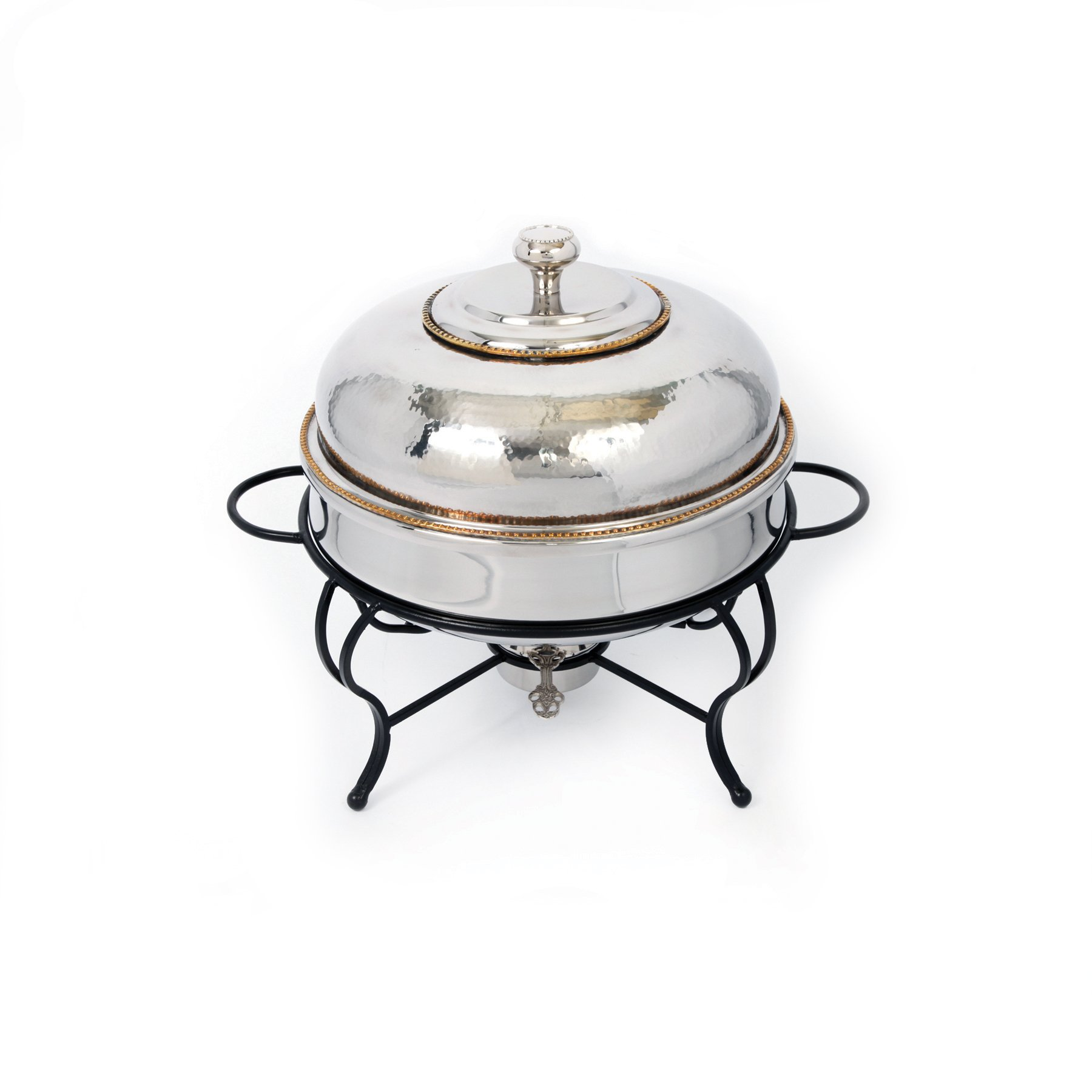 Star Home 6-Quart Round Stainless Steel Chafing Dish