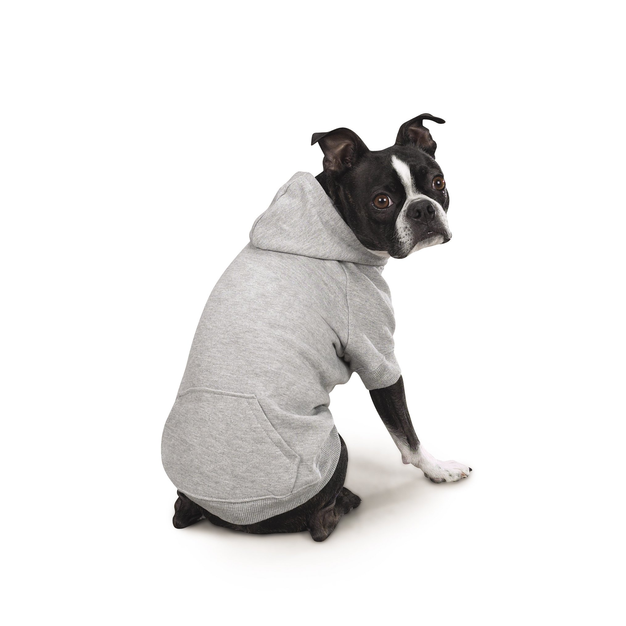 Zack & Zoey Basic Hoodie for Dogs, 20'' Large, Heather Gray by Zack & Zoey (Image #3)