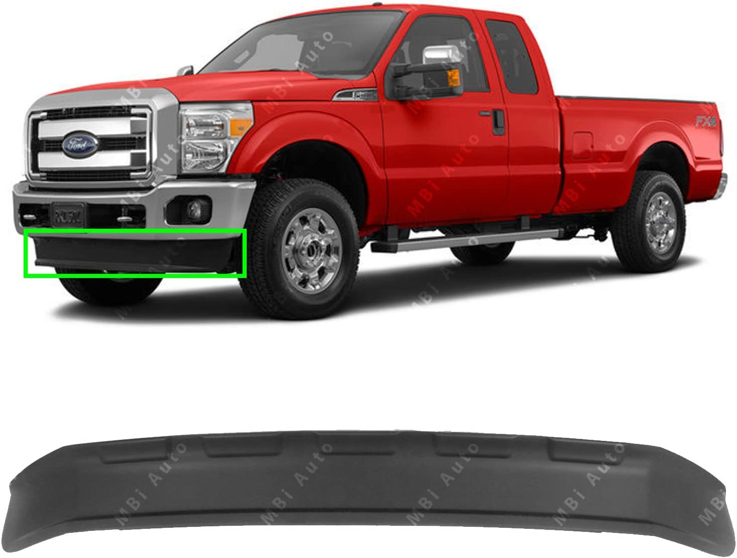 2016 Ford F350 >> Mbi Auto Front Bumper Lower Valance Air Deflector For 2011 2016 Ford F250 F350 Super Duty 4x4 11 16 Fo1095242