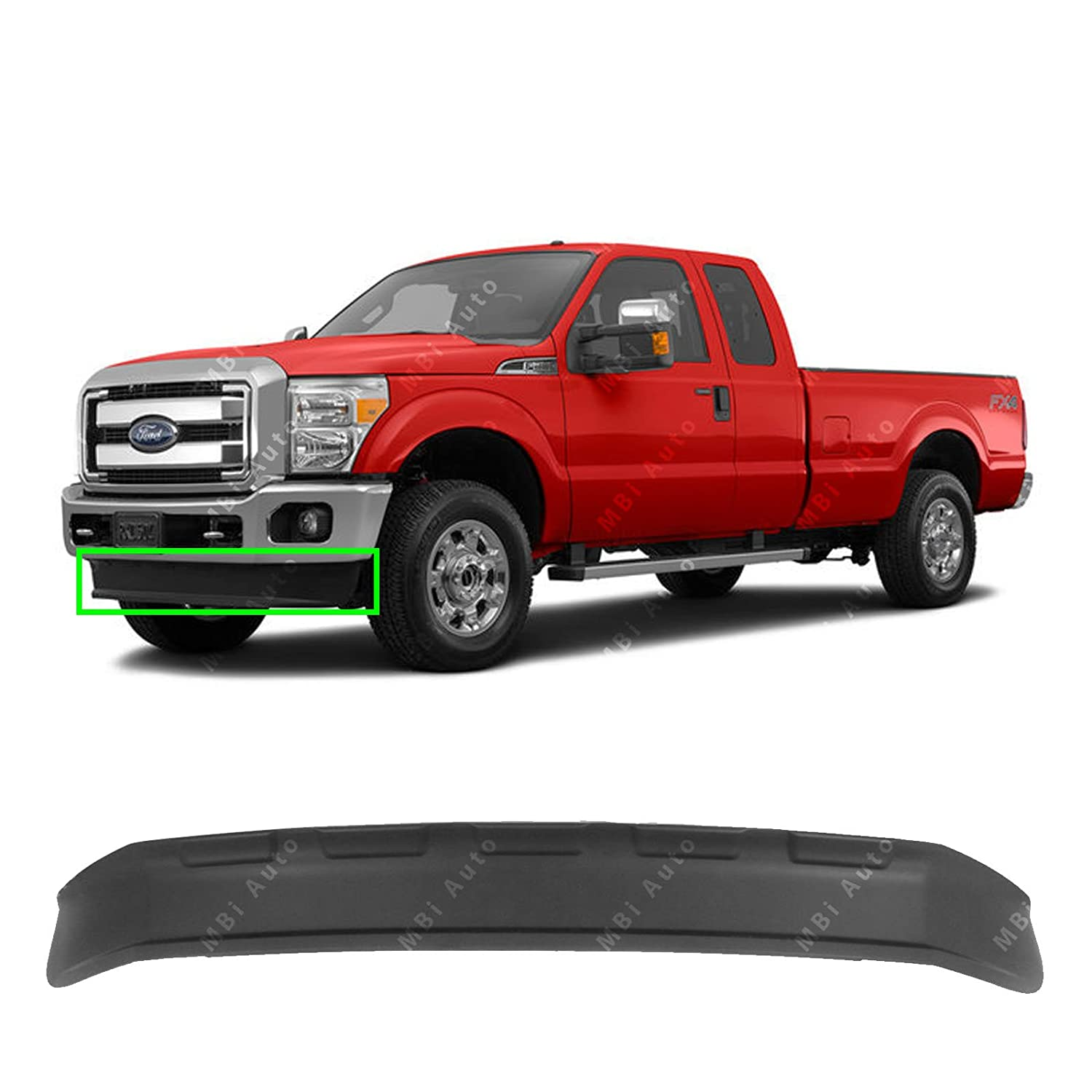 Mbi Auto Front Bumper Lower Valance Air Deflector For 1948 Ford Panel Truck 4x4 2011 2016 F250 F350 Super Duty 11 16 Fo1095242 Automotive